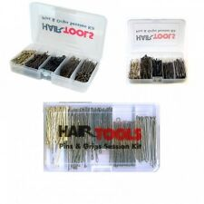 Hair Tools Pins & Grips Session Kit - 3x100 Grips, 100 Waved Pins, 80 Plain Pins