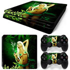 Sony PS4 Playstation 4 Slim Skin Aufkleber Schutzfolie Set - Cannabis Girl Motiv