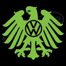 Eagle VW Logo LIME GREEN VINYL STICKER DECAL VOLKSWAGEN GTI GLI BEETLE BUG BUS
