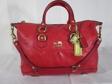 Coach 12937 Sabrina Fuchsia Madison Leather Shoulder Bag Tote Handbag Purse Tote