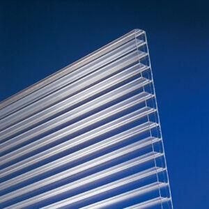 Doppelstegplatten Polycarbonat 16mm klar Stegplatten Hohlkammerplatte 18,75 €/m²