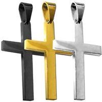 Kettenanhänger Anhänger Kreuz Halskette Königskette Schwarz Silbern Golden Stahl