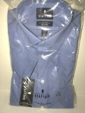 Men's NEW size 15 Tailored Culture Stafford  Blue Long Sleeve Broadcloth Shirt