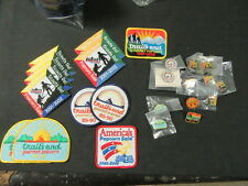 Boy Scout Trail's End Popcorn Patches and Pins Collection, 12 of each        c45
