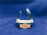 2000 Case 112th Shield Canoe Knife Red Pw Bone Handles