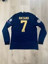 Eden Hazard Soccer Jersey Long Sleeve Real Madrid Away Large
