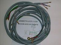 IMPIANTO ELETTRICO ELECTRICAL WIRING LAMBRETTA Li 125/150 2° SERIE+SCHEMA EL.