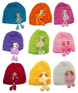BellaToddler's Stretchy Knitted Bonnets Hats in Set of 3, 9 & Dz Pk U16250-0018