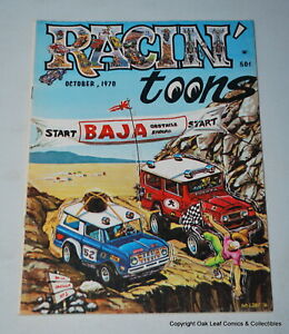 Racin' toons Magazine October 1970 V 1 #2 F-VF  Try to find one of these!
