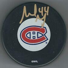 AUTOGRAPHED SHELDON SOURAY Montreal Canadiens Hockey Puck - w / COA