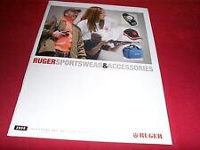 2009 Ruger Arms Firearms Sportswear & Accessories Gun Catalog Folder
