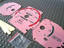 96-00 Honda Civic DX MT Manual Cluster White Face Glow Through Gauges Pink