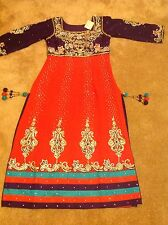 Designer Asain Bridal Wedding Mendhi Dress Indian Churidaar Size 8