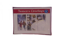 Holiday Snowing Christmas Cutting Tree Cards Kids Playing in Snow Church 28 New
