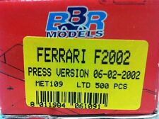 1/43 BBR Ferrari F2002 F1 Grand Price Gp press version 2002