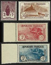 """France Série 4 valeurs YT N°229/232 """"Orphelins de Guerre"""" NEUF** LUXE, 1926-27"""