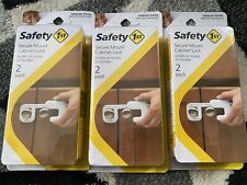 Safety First 1st Secure Mount Cabinet Child Proof Locks 3 Pack 6 Total FREE SHIP