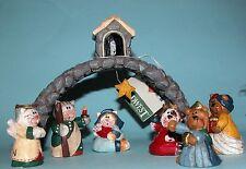 Midwest Eddie Walker Nativity 7pc. Holy Family, shepherd, angel, kings Christmas