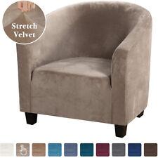 Velvet Stretch Armchair Slipcover Spandex Single Sofa Chair Cover Protector