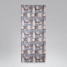 SCHÖNER LEBEN. Vorhang Smok-Schlaufenband Christmas Schriftzug natur blau 245cm