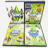 Sims 3 PC Bundle Including Sims 3 Basegame and 3 Expansion Packs - All Complete