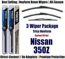 3pk Wipers Front & Rear - NeoForm - fit 2003-2009 Nissan 350Z - 16200/180/30180