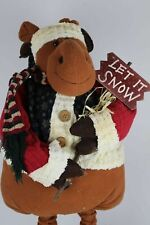 Reindeer Moose Plush Figure Grows 37 - 43 inches Christmas Holiday Decoration