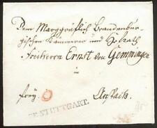 STUTTGART 1784 VORPHILABRIEF GUTE TYPE FEUSER 3495-1 (D1205