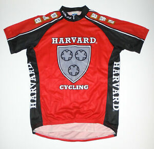 HARVARD University Cycling Jersey VOLER Red/Black College Bike Cycle USA Mens Lg