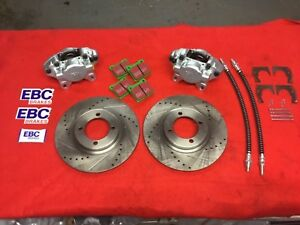 Triumph Spitfire or Herald type 14 front Brake upgrade Kit calipers EBC pads