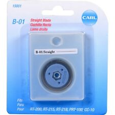 (AA) CARL B-01 Straight CUTTER Blade Refill 15001  RT-200 RT-215 RT-218 PRT-100