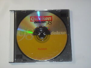 Quicken Deluxe 98 for Apple Mac OS (9.x) Installation CD