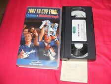 CHELSEA V MIDDLESBROUGH 1997 F.A.CUP FINAL VHS MATCHDAY VIDEO