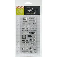 """""""Kelly Purkey Clear Stamps 2.5""""""""X6""""""""-TV Planner"""""""