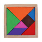 Color Wooden Tangram 7 Piece Puzzle Brain Teaser Jigsaw Intelligent Child Toy