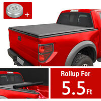 Soft Roll up Tonneau cover For 2007-2020 Toyota Tundra 5.5 FT Crew Max Bed