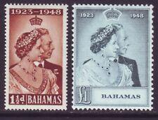 Bahamas 1948 SC 148-149 MH Set Silver Wedding