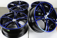 17 4x108 4x100 Blue Wheels Fits Ford Focus Civic Integra Yaris Cougar 4 Lug Rims