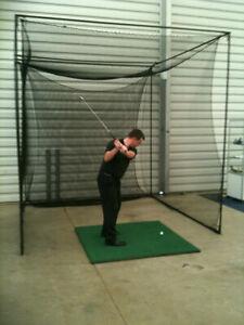 Golf training practice net - Black Golf net and Frame, Par model practice cage