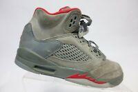 NIKE Air Jordan 5 V Retro Camo Suede Sz 5Y Kids Basketball Shoes