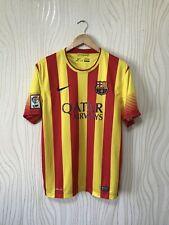 BARCELONA 2013 2014 AWAY FOOTBALL SHIRT SOCCER JERSEY NIKE 532823-703 sz L