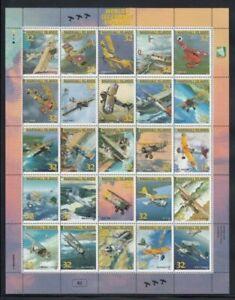 MARSHALL ISLANDS World's Legendary Biplanes MNH sheetlet