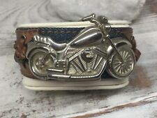 Vintage 'BULLET' Brand Motorcycle Design Wide Jean 'Leather' Watch Bracelet