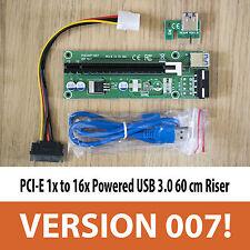 PCI-E 1x à 16x Ver 007 Alimenté USB 3.0 60 cm extension PCI Express Riser Adaptateur