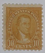 Travelstamps: 1923-1926 US Stamps Scott # 591, 10c Monroe MINT NG