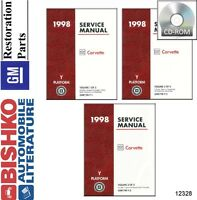 1998 Chevrolet Corvette Shop Service Repair Manual CD Engine Drivetrain Wiring