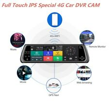 "GPS Bluetooth WIFI ADAS Car Assist 2Lens Video Recorder Dash Cam 10"" Full Touch"