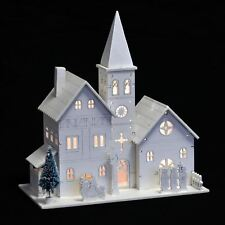 church scene christmas light up room decoration battery operated led ornament