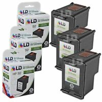 LD Remanufactured Replacements for HP 92 / C9362WN Black Ink Cartridges 3-Pack