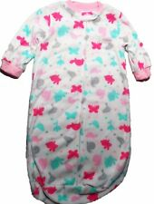 "Carter's Baby Girl Sleep Bag 0-9 Months ""I Love You Mommy"" NEW White Pink Teal"